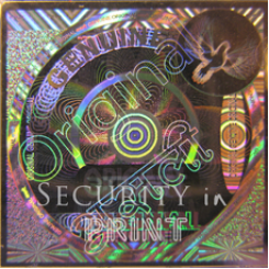 Square 25mm Silver Self-Adhesive Hologram Security Sticker S25-1S