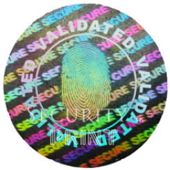 Round 20mm Silver Self-Adhesive Hologram Security Sticker C20-1S