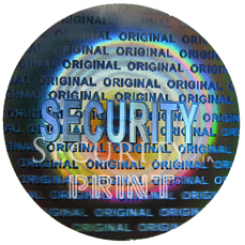 Round 22mm Silver Self-Adhesive Hologram Security Sticker C22-1S