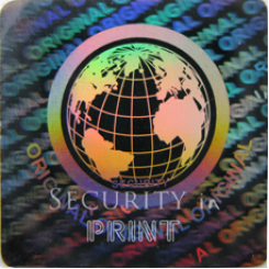 Square 20mm Silver Self-Adhesive Hologram Security Sticker S20-1S