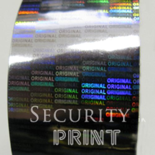 Holographic Silver Hot Foil 30mm wide x 120m Long HF1S30-120Security Hot Foil