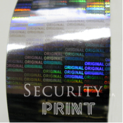 Holographic Security Silver Hot Foil 30mm wide x 120m Long HF1S30-120