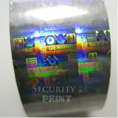 Holographic Security Silver Hot Foil 30mm wide x 120m Long HF2S30-120