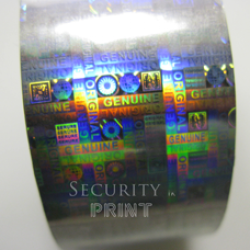 Holographic Security Silver Hot Foil 30mm wide x 120m Long HF2S30-120 Security Hot Foil