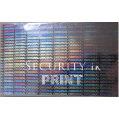 Holographic Self-Adhesive Hologram Security Sticker Tape 50mm Wide Silver HT50-1VS