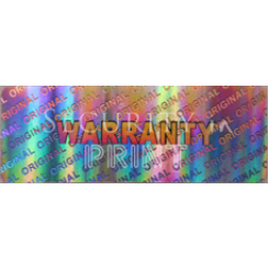 Rectangular 30x10mm Silver Hologram R3010-2S