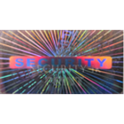 Rectangular 30x20mm Silver Self-Adhesive Hologram Security Sticker R3020-2S