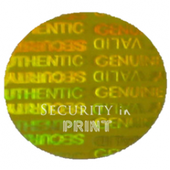Round 20mm Gold Self-Adhesive Hologram Security Sticker C20-6G