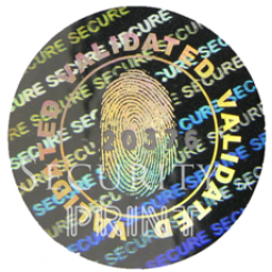 Round 20mm Silver Self-Adhesive Hologram Security Sticker C20-1SSN