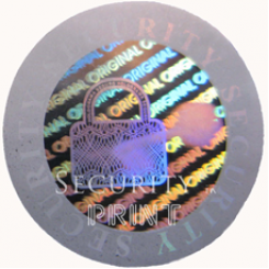 Round 20mm Silver Self-Adhesive Hologram Security Sticker C20-3S