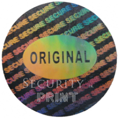 Round 20mm Silver Self-Adhesive Hologram Security Sticker C20-4S