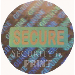 Round 24mm Silver Self-Adhesive Hologram Security Sticker C24-1S