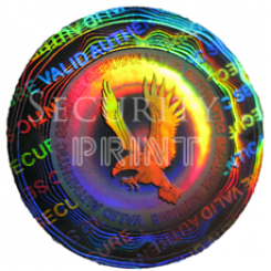 Round 25mm Silver Self-Adhesive Hologram Security Sticker C25-1S