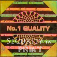 Square 14mm Gold Self-Adhesive Hologram Security Sticker  S14-2G