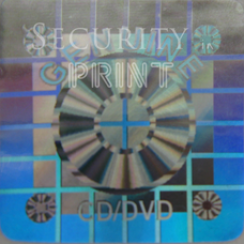 Square 22mm Silver CD/DVD Hologram S22-1S