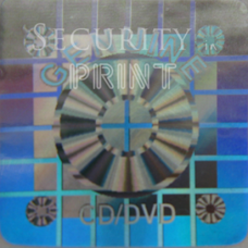 Square 22mm Silver CD/DVD Self-Adhesive Hologram Security Sticker S22-1S Square Holograms