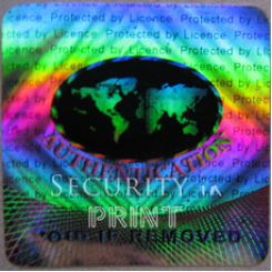Square 25mm Silver Self-Adhesive Hologram Security Sticker S25-4S