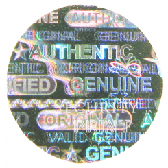Round 8mm Silver Self-Adhesive Hologram Security Sticker C8-1S